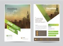 Het collectieve malplaatje van de het ontwerplay-out van de brochurevlieger in A4 grootte Stock Afbeelding
