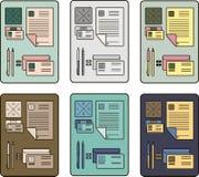 Het collectieve ontwerp van identiteitspictogrammen met abstract element Moderne abstracte bedrijfs vastgestelde kantoorbehoeften Royalty-vrije Stock Fotografie