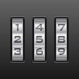 Het combinatieslot van het aantal Royalty-vrije Stock Foto's