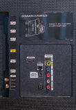 Het Comité van de inputverbinding op televisie Stock Fotografie