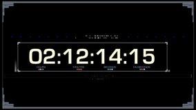 Het Comité van HUD Time Code UI stock video