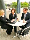 Het commerciële Bespreken van het Team royalty-vrije stock afbeelding