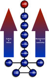 Het commerciële Diagram van de Organisatie Stock Afbeeldingen