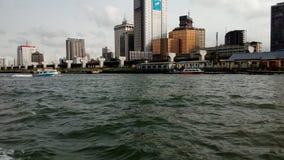 Het commerciële District van Lagos, stock fotografie