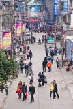 Het commerciële gebied van klantenina in Yibin, China stock fotografie