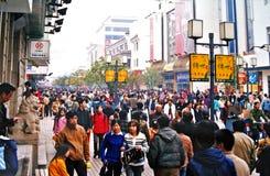 Het Commerciële Gebied van Suzhou Stock Fotografie