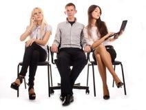 Het commerciële team Stock Foto's