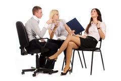 Het commerciële team Stock Afbeeldingen