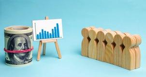 Het commerciële team bekijkt de statistieken en het ontwikkelingsplan van het bedrijf Concept bedrijfsstrategie Analyse van resul royalty-vrije stock foto