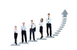 Het commerciële team bevindt zich Royalty-vrije Stock Afbeelding