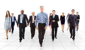 Het commerciële team gaan Stock Fotografie