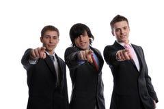 Het commerciële team gesturing Royalty-vrije Stock Foto's