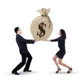 Het commerciële team krijgt veel inkomen 1 Stock Foto's