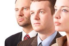 Het commerciële team - portret - sluit omhoog royalty-vrije stock afbeelding