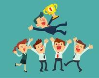Het commerciële team viert hun succes Stock Afbeeldingen