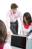 Het commerciële team werken Stock Foto