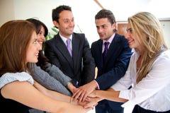 Het commerciële teamwerk Stock Afbeelding