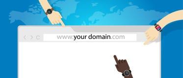 Het commerciële van het domeinnaamweb concept van Internet url stock illustratie