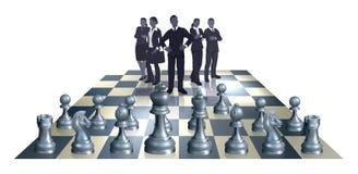 Het Commerciële van het schaak Concept van het Team Royalty-vrije Stock Afbeeldingen