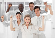 Het commerciële Glimlachen van het Team Royalty-vrije Stock Foto's