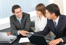 Het commerciële team werken Royalty-vrije Stock Afbeelding