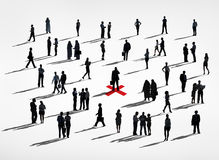 Het communautaire Concept van de Bedrijfsmensen Communautaire Aanwijzing stock illustratie