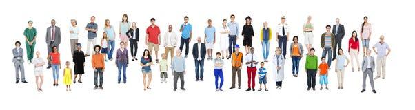 Het communautaire Concept van het de Banen Professionele Beroep van Diversiteitsmensen stock foto's