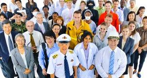 Het Communautaire Vennootschap Team Concept van het verscheidenheidsberoep royalty-vrije stock fotografie
