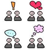 Het communiceren van mensen royalty-vrije illustratie