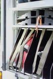 Het compartiment van de brandmotor stock afbeeldingen
