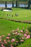 Het competeing van de golfspeler Stock Foto's