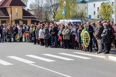 Het complex van gebeurtenissen gewijd aan de 30ste verjaardag van het ongeval van Tchernobyl in het Gomel-gebied van de Republiek Royalty-vrije Stock Afbeeldingen