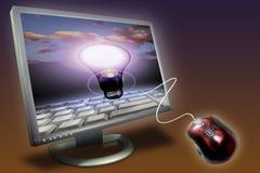 het computer Monitor en scherm Royalty-vrije Stock Foto's