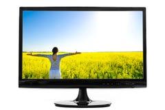 Het computerscherm Stock Afbeeldingen