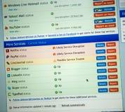 Het computerscherm met Internet-pagina's en Internet-gegevens niet workin Stock Afbeelding