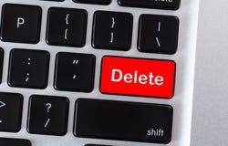 Het computertoetsenbord met woord schrapt op knoop stock afbeeldingen