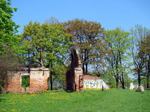 Het concentratiekamp kraków-Plaszow van KL - Ruïnes Royalty-vrije Stock Foto