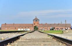 Het concentratiekamp van Auschwitz royalty-vrije stock foto
