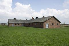 Het concentratiekamp van Auschwitz stock afbeeldingen