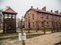 Het concentratiekamp van Auschwitz Royalty-vrije Stock Afbeeldingen