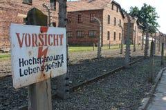 Het concentratiekamp van Auschwitz in Polen Stock Foto