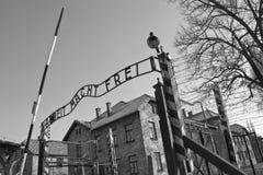 Het Concentratiekamp van Auschwitz - Polen stock foto's