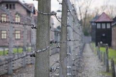 Het concentratiekamp van Auschwitz in Polen Stock Afbeeldingen