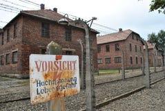 Het concentratiekamp van Auschwitz van Osvietim Stock Fotografie