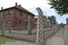 Het concentratiekamp van Auschwitz van Osvietim Stock Foto's
