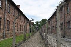 Het concentratiekamp van Auschwitz van Osvietim Stock Foto