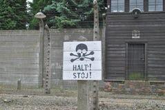 Het concentratiekamp van Auschwitz van Osvietim Royalty-vrije Stock Fotografie