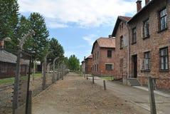Het concentratiekamp van Auschwitz van Osvietim Stock Afbeeldingen