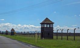 Het concentratiekamp van Birkenau Stock Foto