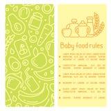 Het concept babyvoedsel beslist boekje royalty-vrije illustratie
